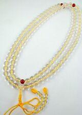 10mm Tibetan Buddhism 108 White Synthetic Crystal Prayer Bead Mala Necklace
