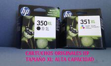 PACK DE CARTUCHOS :HP 350XL + 351XL A ESTRENAR ORIGINALES. GANGA!!