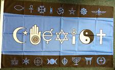 Co-Exist Flag/Banner New Age Inter-Faith Ecumenism Multi-Cultural Multi-Faith bn