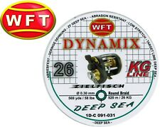 (0,07€/1m) WFT Dynamix Round Deep Sea grün 520m 0,30mm 26kg, Geflechtschnur