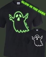 Ghost Glow in the Dark T-Shirt Mens Womens glowing halloween costume