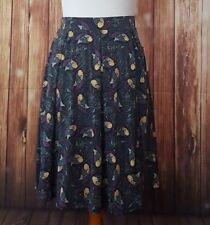 LuLaRoe Madison XS Peacock Bird Pleated Skirt with Pockets NWT Slinky & Stretchy