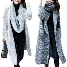 Womens Knitted Open Front Duster Cardigan Tops Sweater Coats Long Jacket Outwear