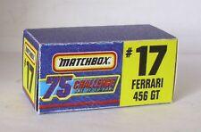 Repro Box Matchbox Challenge Nr.17 Ferrari 456 GT
