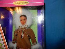 ARTIC BARBIE DOLL 1996 NEW IN BOX Inuit Eskimo Native Alaskan Box has wear