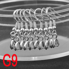 Pinch Bail Jewelry Findings Silver Bead Hook Earring Earwire For Crystal 100PCS