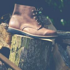 Leather Boots with Laces and Recycled Tyre Soles Portugal Traditional Vintage