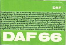 DAF   66   Betriebsanleitung    1974    Bedienungsanleitung    Handbuch   BA