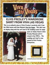 Elvis Presley Personal Owned & Worn Viva Las Vegas Wardrobe Shirt Swatch