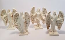 Set of four Archangels Ivory & Gold Finish 93mm Gift Box  (Post or Local Pickup)