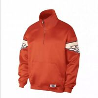 Nike Air Jordan Wings Mens Classic Pullover Orange Jacket Size L Large AO0406891