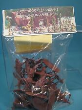 barzso davy crockett indians 54mm plastic bag approx15 unpainted figs1998 miboop