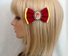 Harry Potter gryffindor hair bow clip rockabilly pin up girl geek slytherin