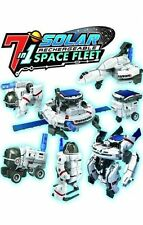 OWI 7 In 1 Solar Space Fleet Rechargeable Solar-Powered Robot Kit MSK641