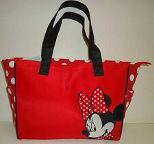 Diaper Bag Tote Large Disney Minnie Mouse Red White Dots Nwt 00004000
