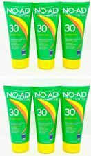 6 No-Ad Sun Care Paraben Free Waterproof Spf 30 Sunscreen 5 oz (See Pictures)