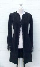 """NAUGHTY"" BLACK SUEDE FRINGED COAT..BNWT..UK 8/10"