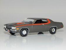 Auto World 1:64 scale 1974 Plymouth Road Runner 400 Gun Metal Gray Red Stripe