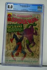 MARVEL COMICS CGC 8.0 THE AMAZING SPIDER MAN 6 11/63 OFF-WHITE PAGES