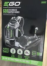 NEW EGO 600 CFM 56-Volt Lith-Ion Cordless Backpack Blower WITH 5.0 Ah BATTERY!