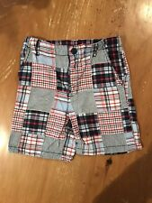 KITESTRINGS by HARTSTRINGS PLAID BOYS SHORTS RED, WHITE & BLUE SIZE 7