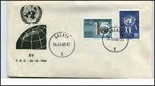 1960 MI. 1783-1784 a/ Brief Vereinte Nationen Cover United Nations GALATA S.