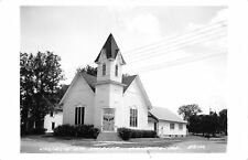 Tampico IL Church of Christ~Real Photo Postcard RPPC Helen Nicely 1970