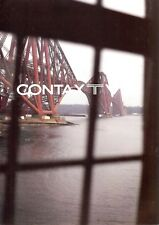 CONTAX T VS 35mm CAMERA LARGE DELUXE BROCHURE -CONTAX TVS-CARL ZEISS LENSES