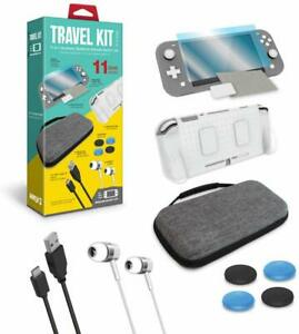Armor3 Travel Kit:Cases,Screen Protector,Earbuds,Cable Grip Nintendo Switch Lite