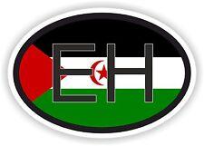 EH Sahara Occidental Bandera Pegatina Oval código de país para coche de parachoques portátil Tablet PC