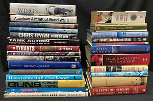 Job Lot Collection Of 30 Military History Reference Biography Books JL10