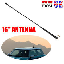 "Rubber 16"" Black Long Bee Sting Matte Car Aerial Mast Antenna Radio Roof Aerial"