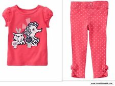 NEW GYMBOREE Girls Dog Best In Show Pants Outfit  SIZE 12-18 MONTHS