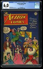 Action Comics #198 CGC FN 6.0 White Pages Lois Lane! DC Superman