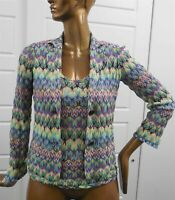 Missoni Italy Multi Knit Twinset Jacket Shell eur 40