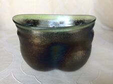 Vintage Art Glass Bowl Oil Slick Irredescence