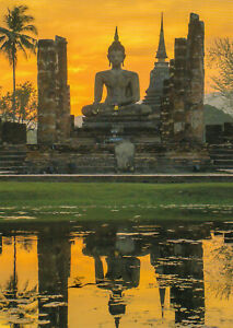 Postkarte - Asien  Buddha Statue in Wat Mahathat Temple