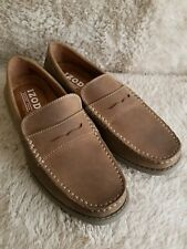 IZOD Men's Edmund Penny Loafer Tan PU Size 7.5