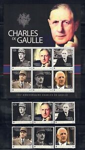 """Republic of Togolaise """"Charles De Gaulle"""" 2 sheets and 9 stamps, MNH"""