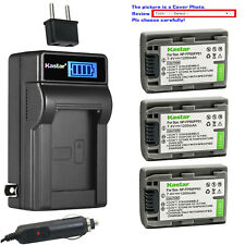 Kastar Battery LCD AC Charger for Sony NP-FP50 NP-FP51 Sony DCR-DVD203 DVD203