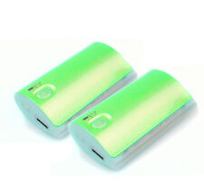 2PCS 5200MAH PORTABLE BATTERY CHARGER USB GREEN HTC ONE BLACKBERRY Z10 MOTO X