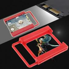 """2.5"""" to 3.5"""" SSD to HDD Screw-less Mount Adapter Bracket Hard Drive Holder Cas♡"""