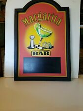 """Vintage 3 D Margarita Sign 24x16"""" with chalk board area."""