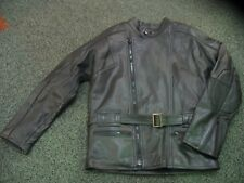 "G-MAC CLASSIC GERMAN PATROL LEATHER MOTORCYCLE BIKER JACKET RETRO 36"" 38"" - NEW"