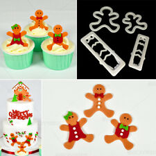 Christmas Gingerbread Man Cookie Cutter Biscuit Pastry Icing Baking Fondant Tool