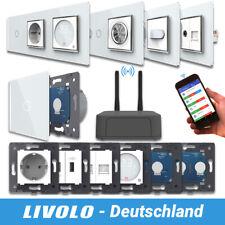 LIVOLO SmartHome Touch Funk Lichtschalter Steckdosen Wechselschalter Weiß Chrom