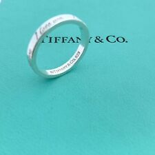 Tiffany & Co. Sterling Silver I Love You Notes Size 7 Stacking Ring