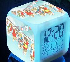 New Japanese Hetalia Seven Color Change Glowing Alarm Clock