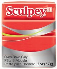 SCULPEY III - Polymer Clay - 57g - RED HOT RED