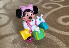 Minnie Mouse Goes Shopping. 2 1/2� plastic Figurine Stamped By Applause